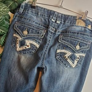 Hydraulic Embellished Flare Jean Size 11/12